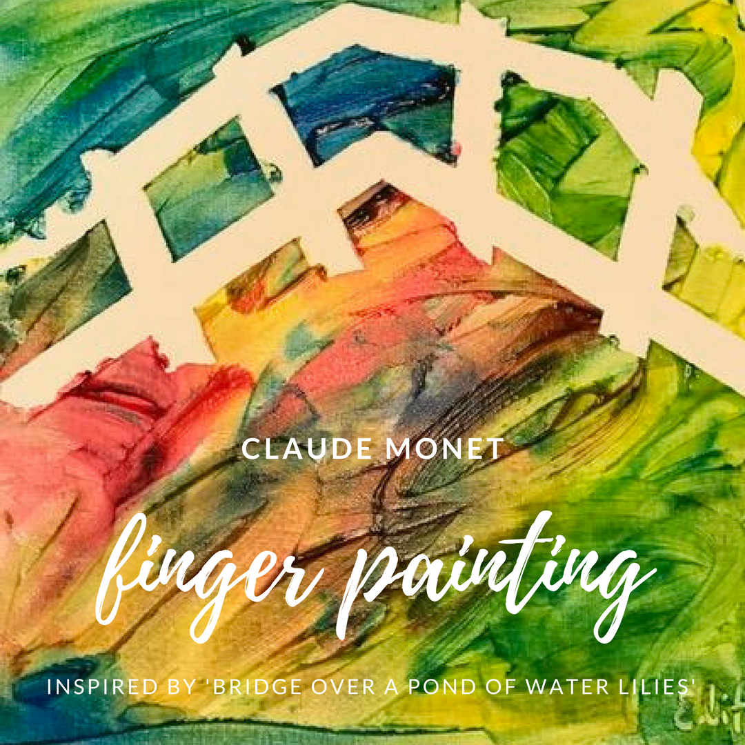 toddlers finger paint water lilies with claude monet