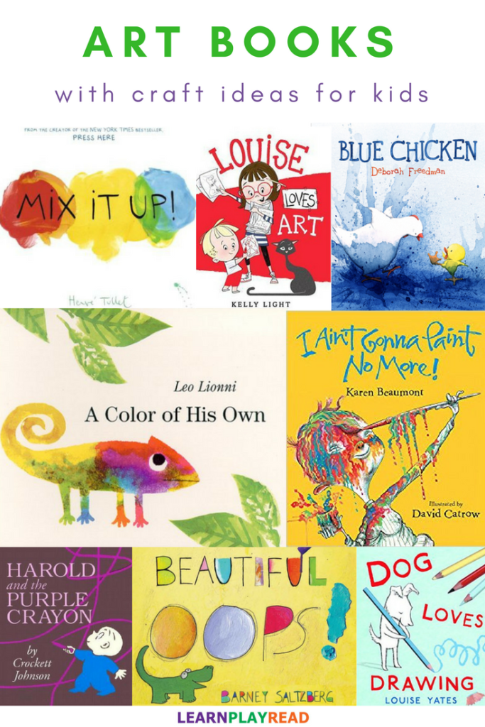 Art Picture Books With Craft Ideas For Kids Including Process Art